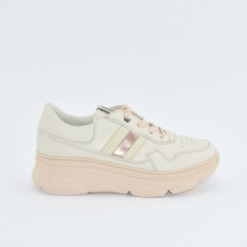 DL Sport 4564 woman pink leather sneakers