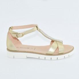 Morelli 00448 platinum woman sandals