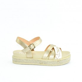 Alviero Martini 10580 platinum and geo safari sandals