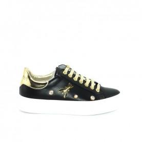 Patrizia Pepe PPJ14.01 sneakers black gold