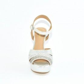 Menbur 21467 silver high heels sandals