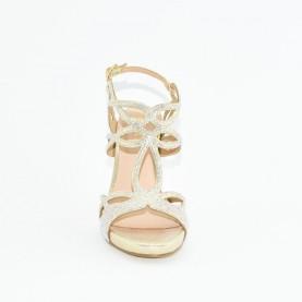 Menbur 21228 gold high heels sandals