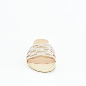 Menbur 21363 gold flat sandals