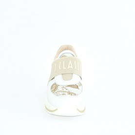 Alviero Martini N0609 white slip-on geo sneakers