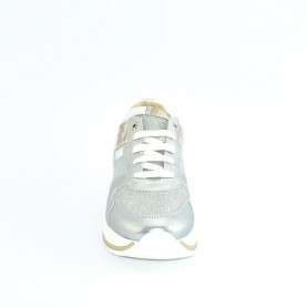 Alviero Martini N0615 silver glitter sneakers