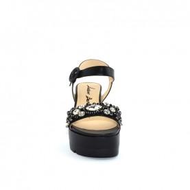 Barachini EE773E black wedge sandals