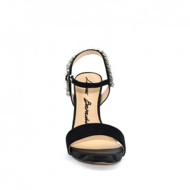 Barachini EE746G black high heels jewel sandals