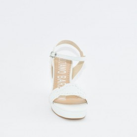 Barachini EE183A white high heels sandals
