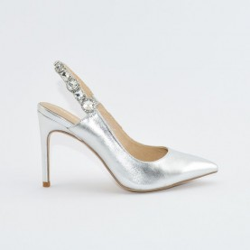 Barachini EE821N silver high heels jewel chanel