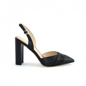 Barachini EE303B black high heels chanel