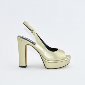 Barachini EE171P platinum high heels chanel sandals