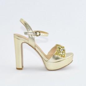 Barachini EE763U platinum high heels sandals