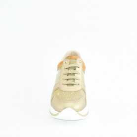 Alviero Martini N0617 platinum glitter sneakers