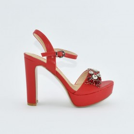 Barachini EE763G red high heels sandals