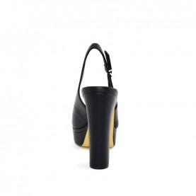 Barachini EE171B black high heels chanel sandals