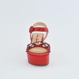 Barachini EE773G red wedge sandals