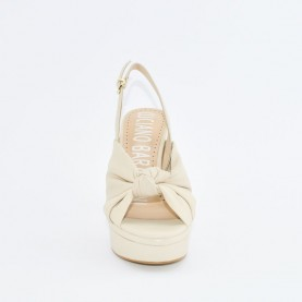 Barachini EE172M beige high heels sandals