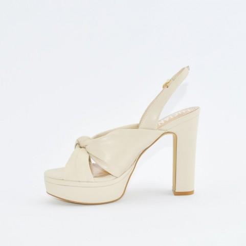 Barachini EE172M beige high heels sandals