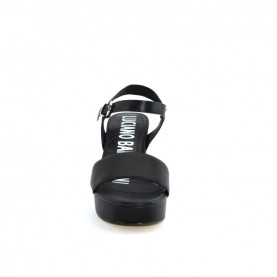 Barachini EE124L black wedge sandals