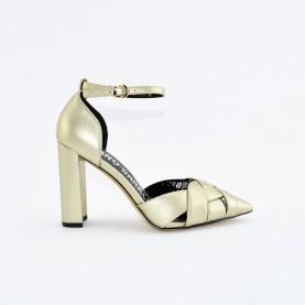 Barachini EE302P platinum high heels chanel
