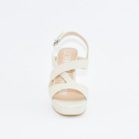 Barachini EE185C bone high heels sandals