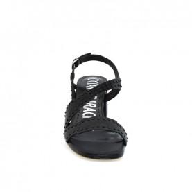Barachini EE141L black medium heels sandals