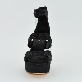Barachini 6244A hight heels black sandals