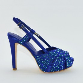 Barachini 6281E hight heels blue sandals