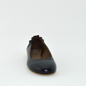 Lilimill 5034 black leather flat shoes