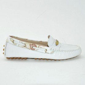 Alviero Martini 0410 white woman loafer