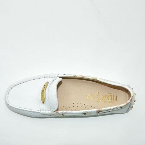 Alviero Martini 0410 white woman loafer