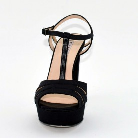 Tiffi 574 black swarowski sandals