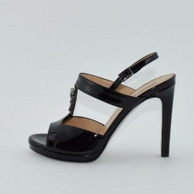 Tiffi 530 black swarowski sandals