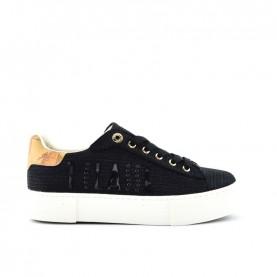 Alviero Martini 10877 black glitter sneakers