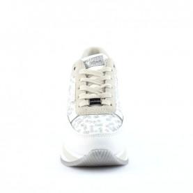 Apepazza Reiko white woman sneakers with paillettes