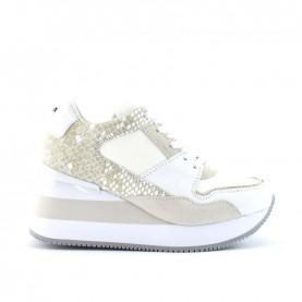 Apepazza Hedy white woman wedge sneakers