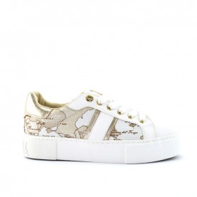 Alviero Martini 10882 white geo safari lamè sneakers