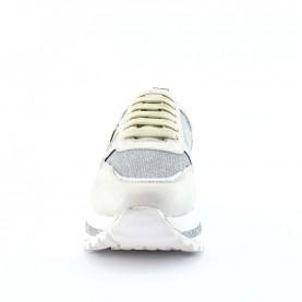 Patrizia Pepe PPJ64 silver platform sneakers