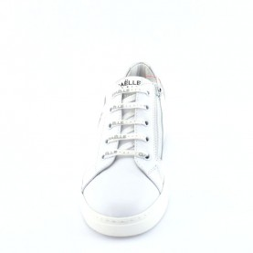 Gaelle G-621 white sneakers with logo