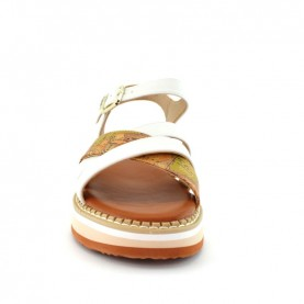 Alviero Martini 10917 geo and white sandals