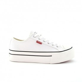 Levi's High Ball white platform sneakers