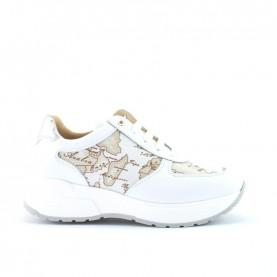 Alviero Martini N0934 white safari geo sneakers