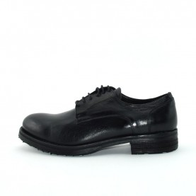Dasthon L0006 man black leather lace ups shoes