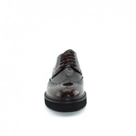 Barachini 9524B man bordeaux leather lace ups shoes