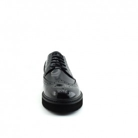 Barachini 9524C man black leather lace ups shoes