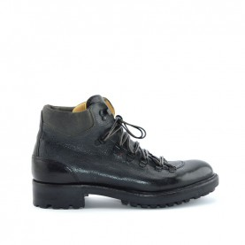 Corvari 8595 man grey leather lace ups boots