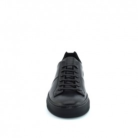 Corvari 8659 man black leather sporty shoes