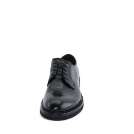 Corvari 8561man black leather lace ups shoes
