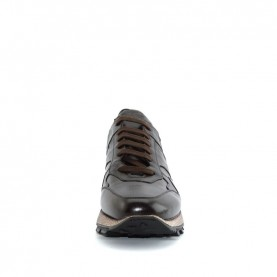 Corvari 9230 man ebony leather sporty shoes