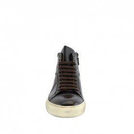 Corvari 9203 man ebony leather sporty shoes